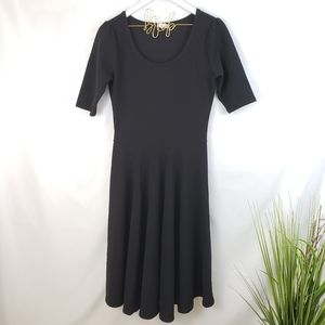 LuLaRoe Nicole Black Skater Dress Medium
